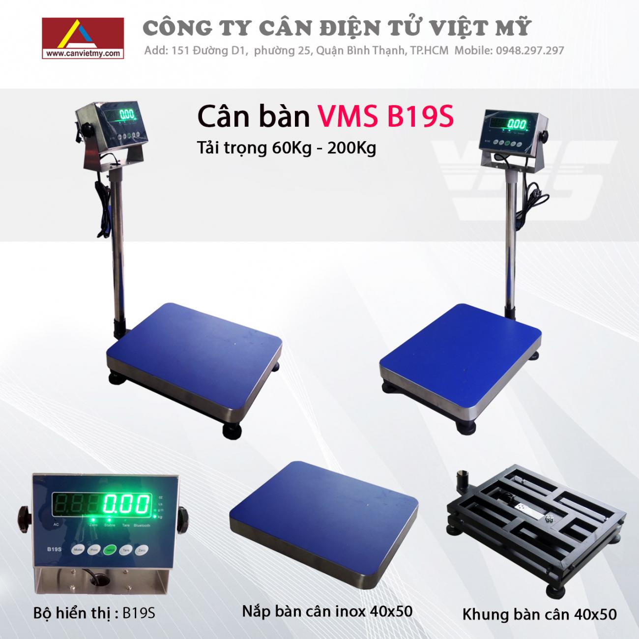 Cân bàn điện tử 300kg - vms b19s
