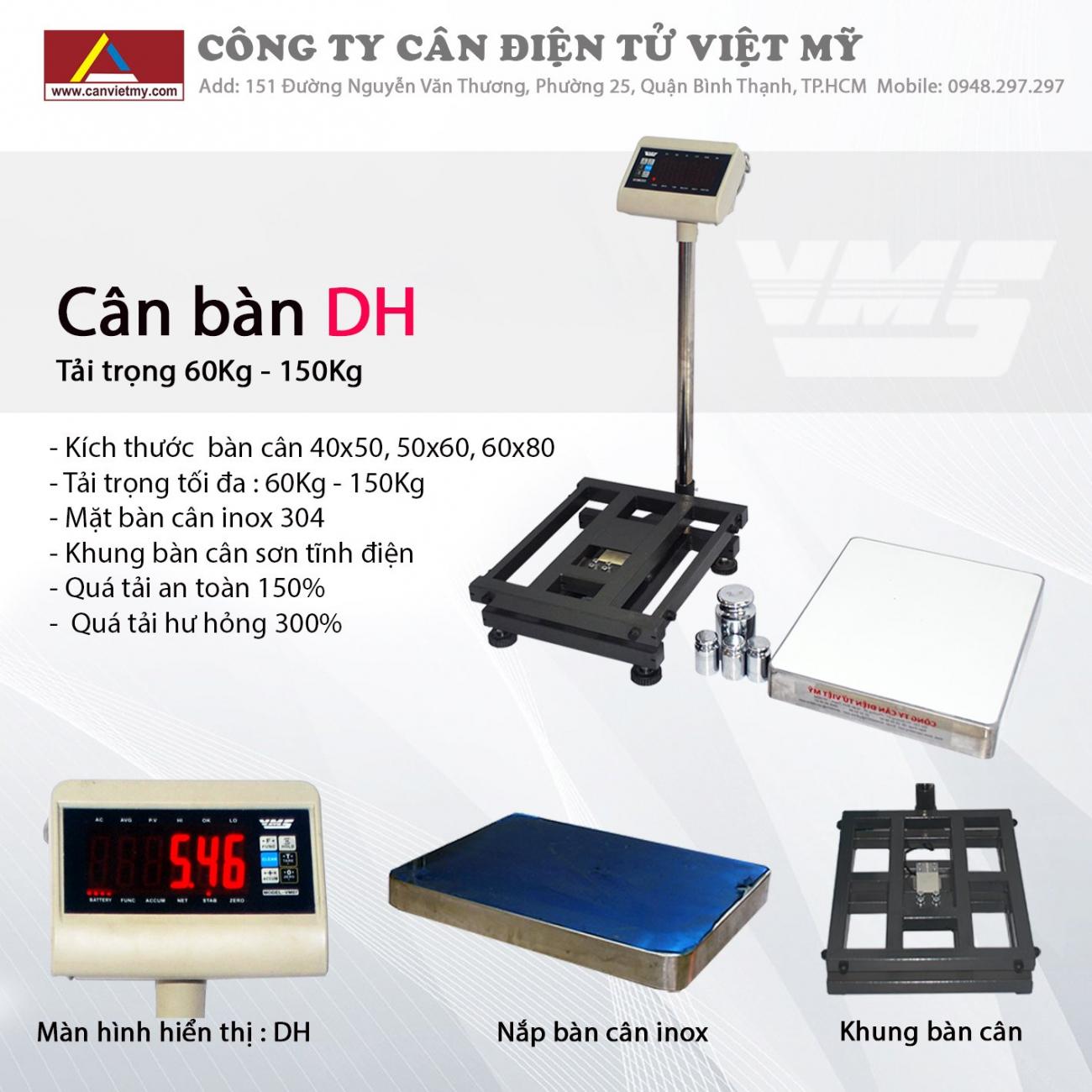 Cân bàn điện tử 500kg - dh