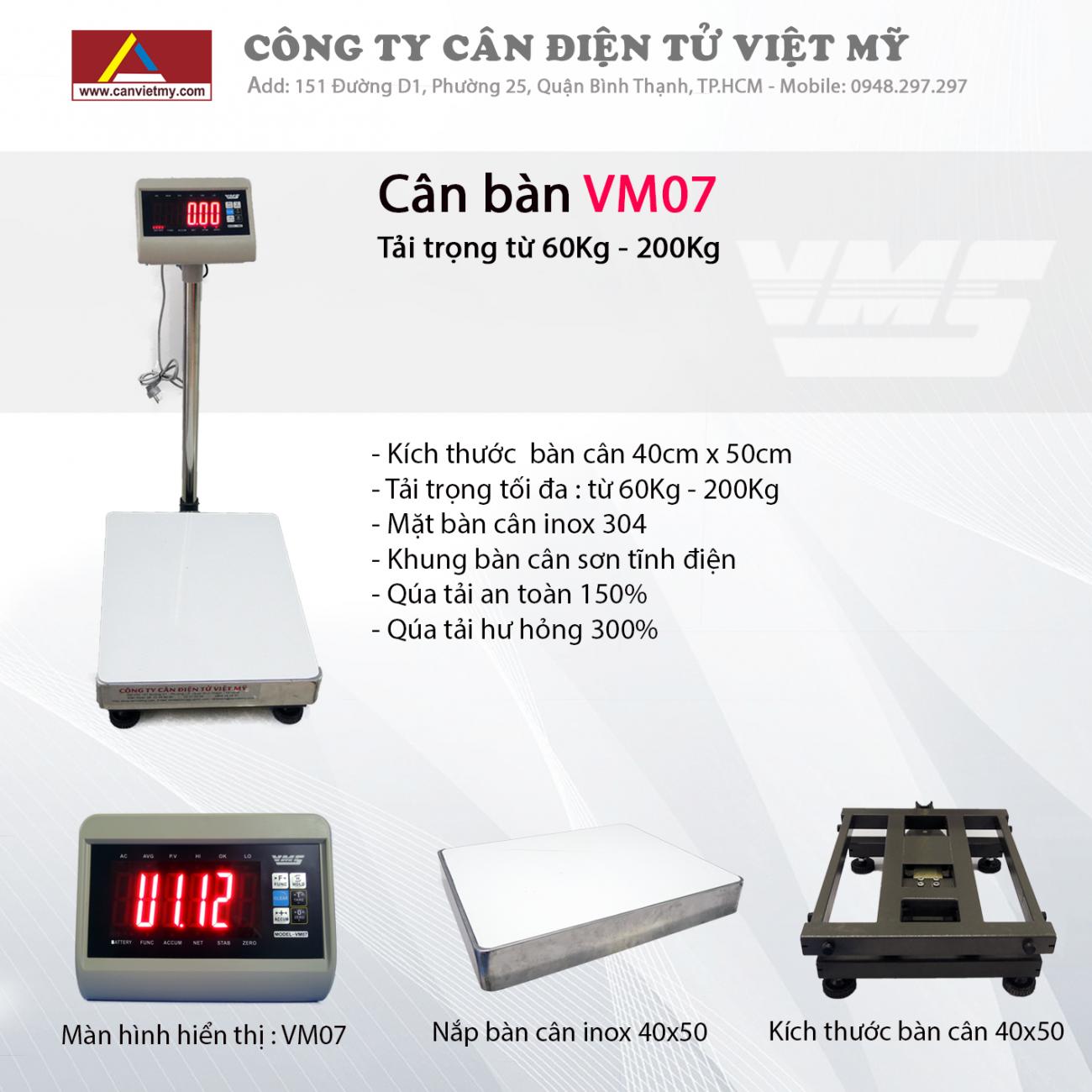 CÂN BÀN ĐIỆN TỬ 150KG VM07 slide 0