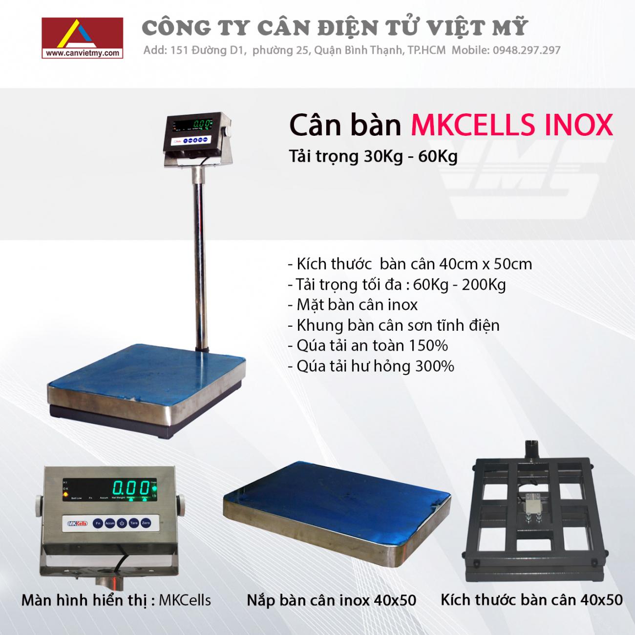 CÂN BÀN ĐIỆN TỬ 150KG INOX - MKCELL slide 0