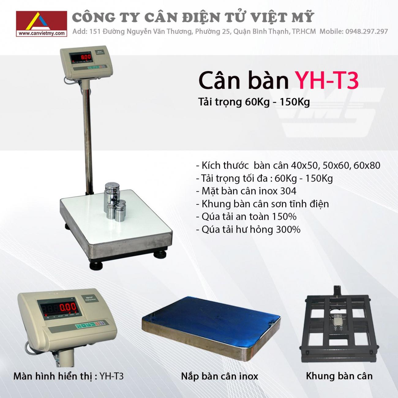 CÂN BÀN ĐIỆN TỬ 300KG - YH-T3 slide 0