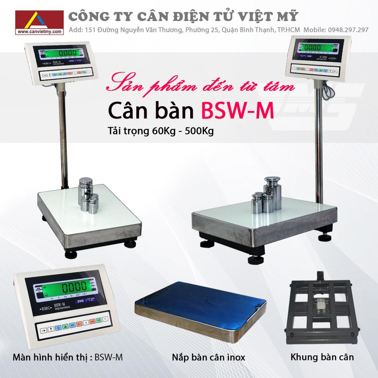 CÂN BÀN ĐIỆN TỬ 500KG - BSW-M slide 0