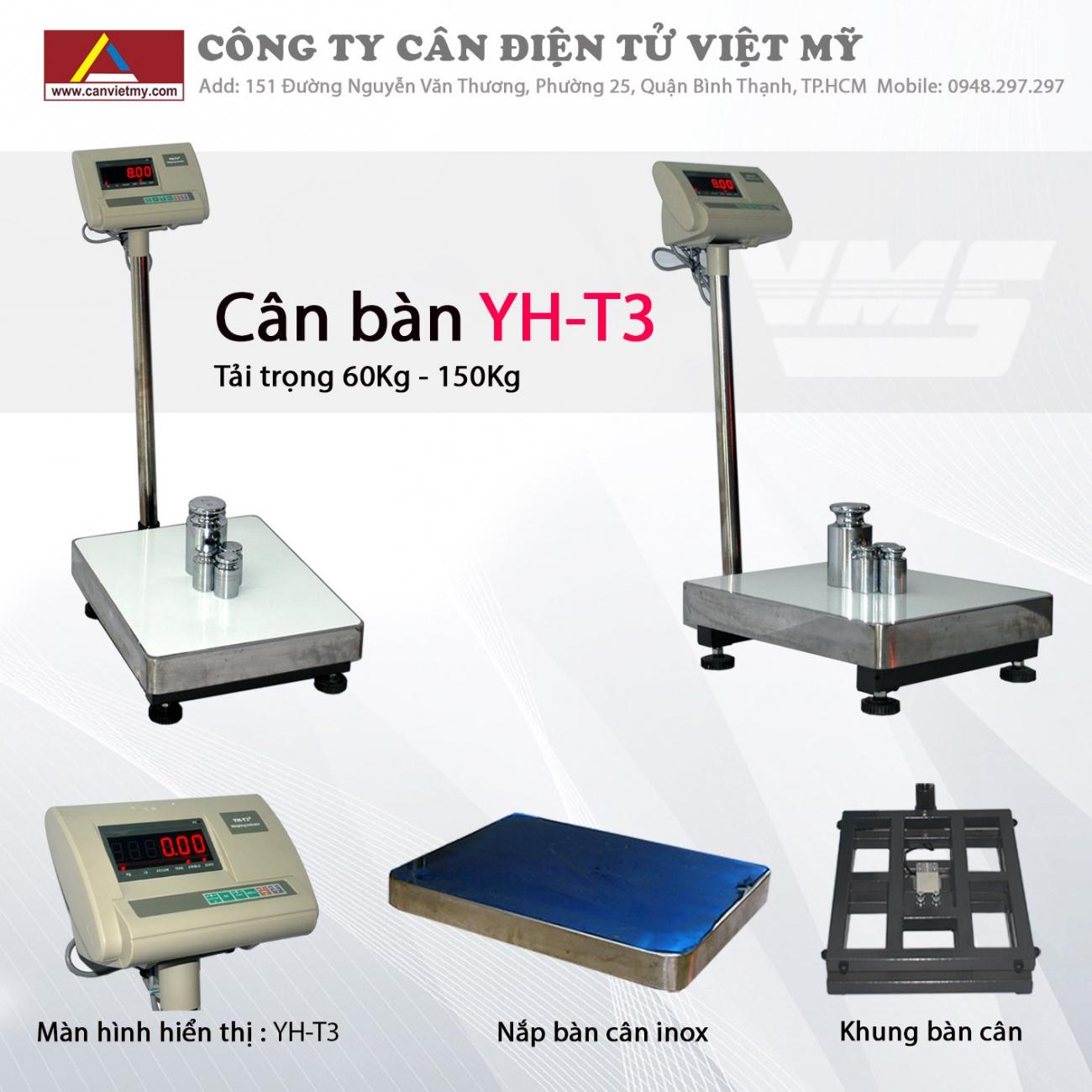 CÂN BÀN ĐIỆN TỬ 500KG - YHT3 slide 0